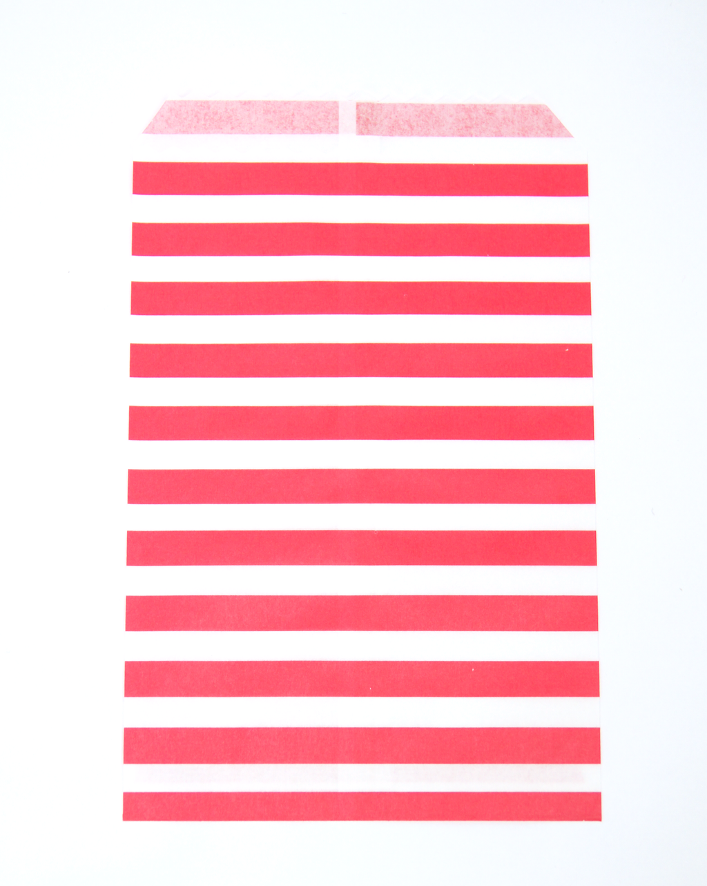 Red & white stripe paper favor bag | Party supplies