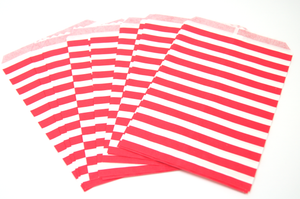 Red & White Stripe Favor Bag
