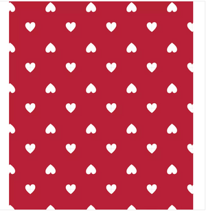 red valentine's day heart tablecloth