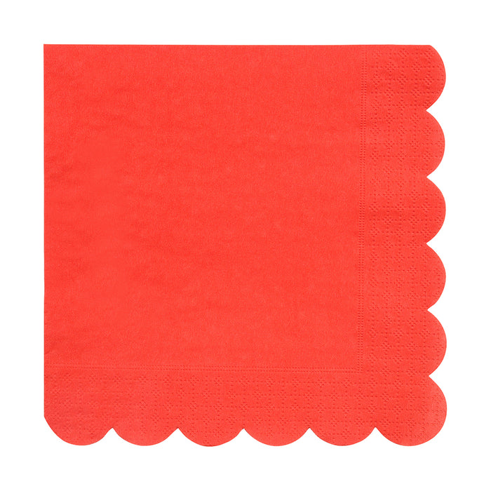 Red Simply Solids Napkin