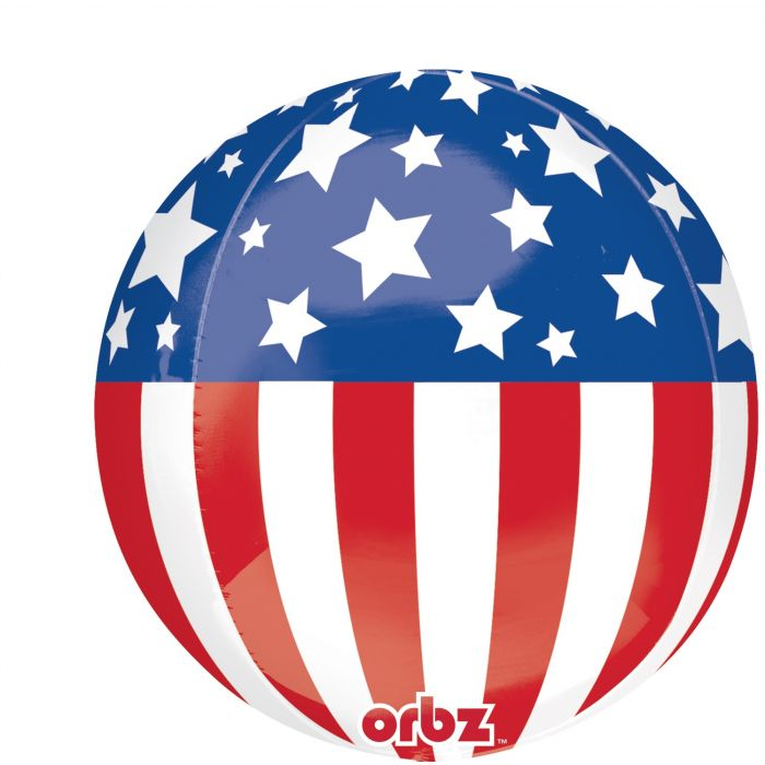 "16"" Patriotic Orbz Balloon"
