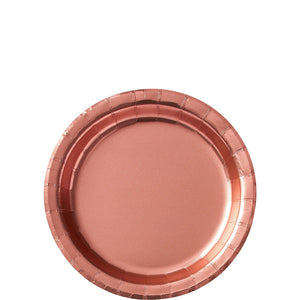 round rose gold dessert party plates