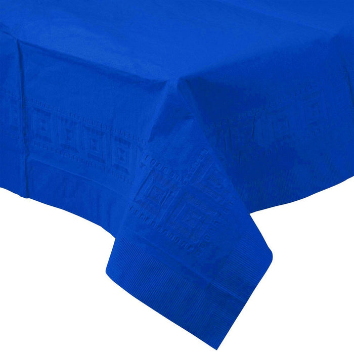 Solid Royal Blue Paper Tablecloth