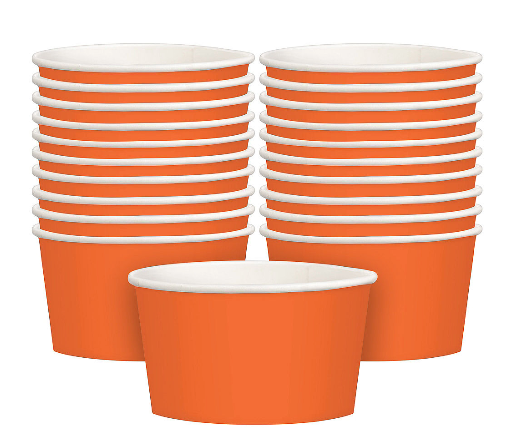orange snack cup, Halloween party treats