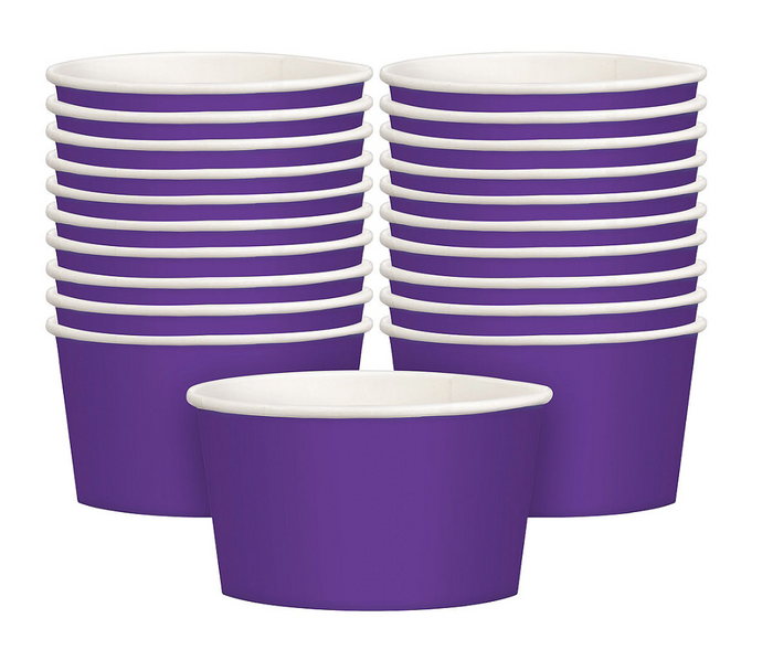 Purple Snack Treat Cups