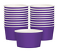 solid royal purple snack cups