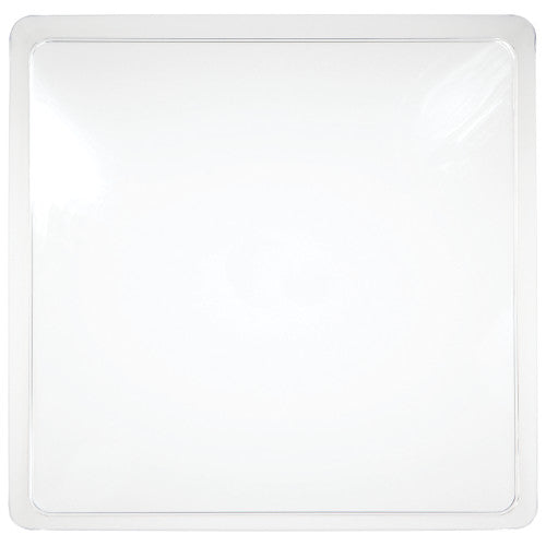 Clear plastic square serving tray