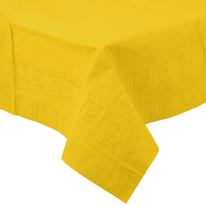 Solid Yellow Paper Tablecloth