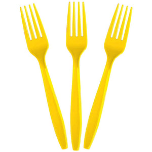 Solid Yellow Forks