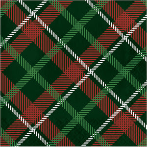 green and white classic tartan plain napkin