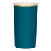 dark teal and gold paper highball cups
