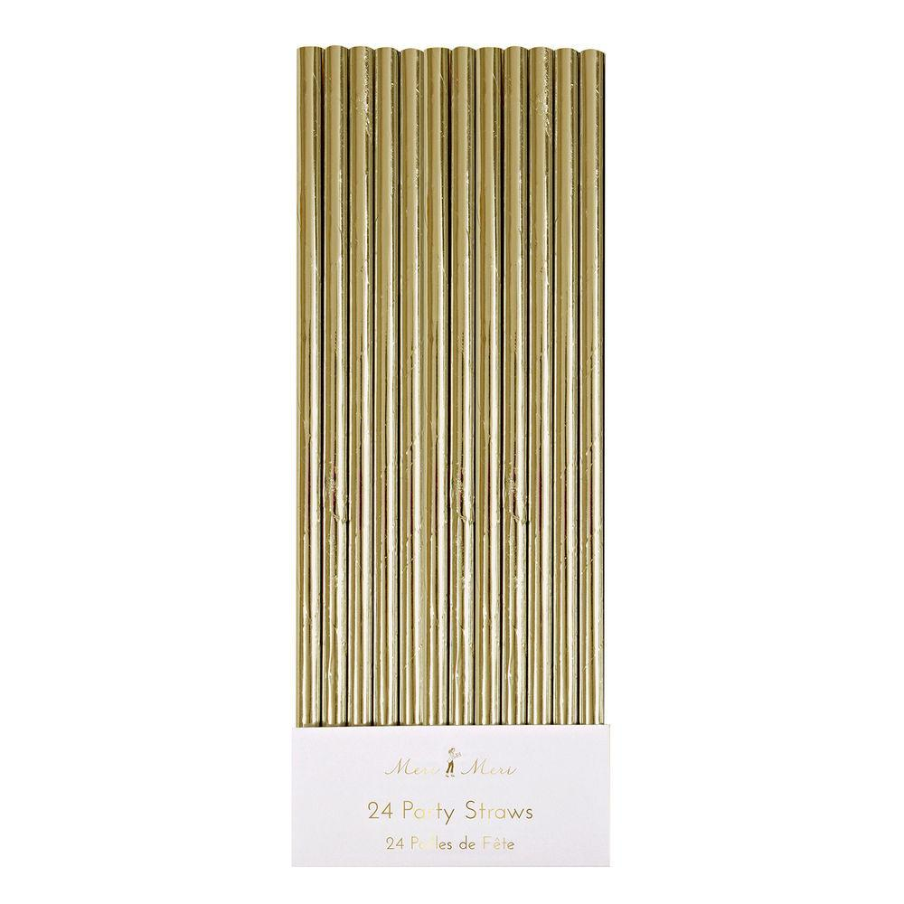 Gold Simply Solids Straw