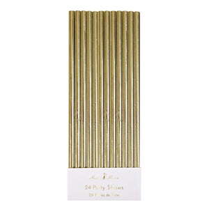 PAPER METALLIC GOLD STRAW
