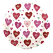 white plate with valentine's day heart featuring sweet, wow, love, hug me, cute
