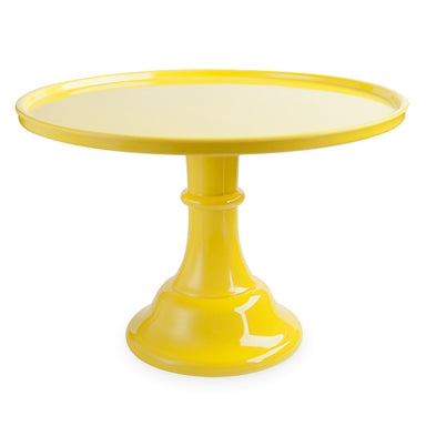 solid yellow cake stand perfect for birthdays, baby showers, bachelorette parties, bridal showers and more!