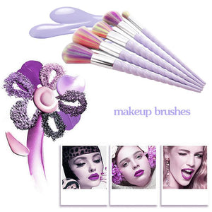 Unicorn Rainbow Professional Makeup Brushes