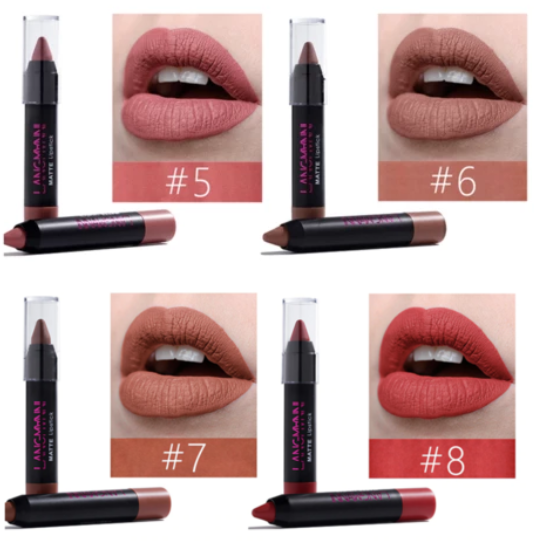 Langmanni® - Long-Lasting Waterproof Matte Lipstick Set