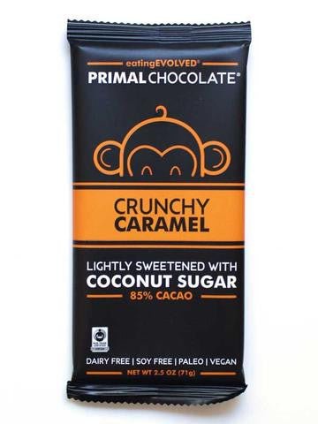 Primal Chocolate Bars (Crunchy Caramel 85%)