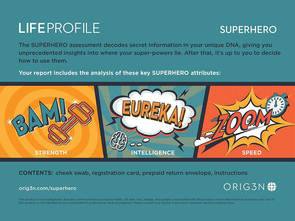 DNA Test - LIFEPROFILE SUPERHERO Personal Genetic Assessment