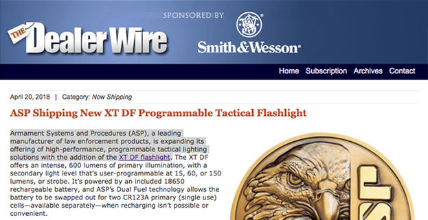 The Dealer Wire: ASP Shipping New XT DF Programmable Tactical Flashlight