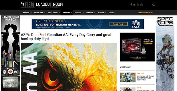 Loadout Room: ASP's Dual Fuel Guardian AA: Every Day Carry and great backup duty light