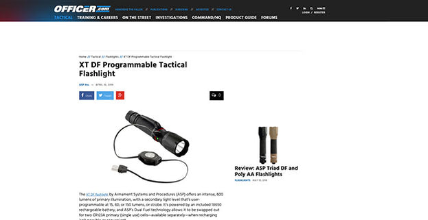 www.officer.com: XT DF Programmable Tactical Flashlight