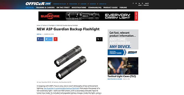 Officer.com:NEW ASP Guardian Backup Flashlight