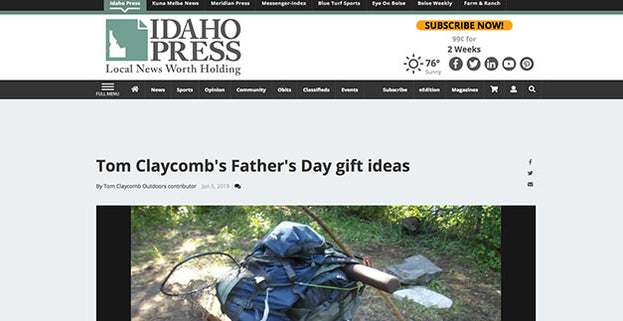 Idaho Press: Tom Claycomb's Father's Day gift ideas