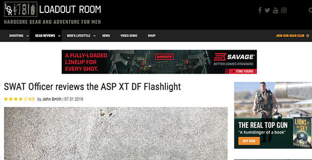 Loadout Room: SWAT Officer reviews the ASP XT DF Flashlight