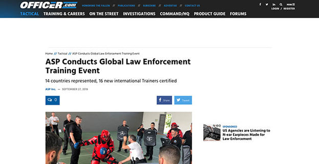 Officer.com:ASP Conducts Global Law Enforcement Training Event