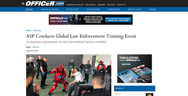 Officer.com: ASP Conducts Global Law Enforcement Training Event