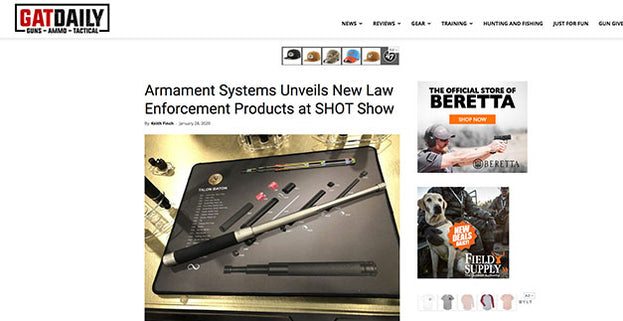 GATDAILY: Armament Systems Unveils New Law Enforcement Products at SHOT Show