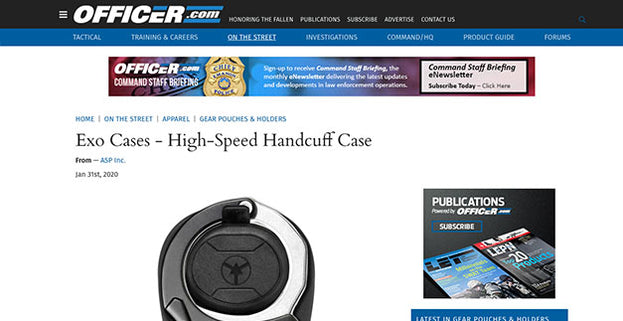 Officer.com: Exo Cases - High-Speed Handcuff Case