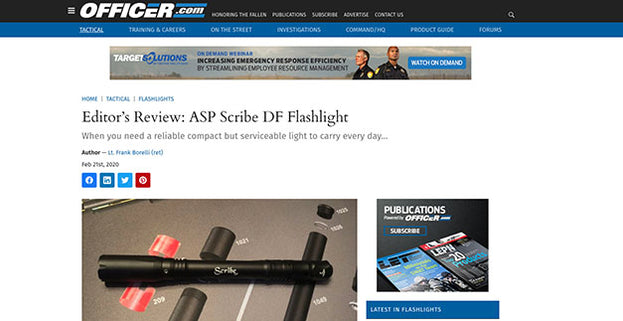 Officer.com: Editor's Review: ASP Scribe DF Flashlight