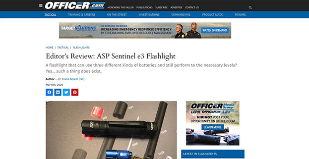 Officer.com: Editor's Review: ASP Sentinel e3 Flashlight