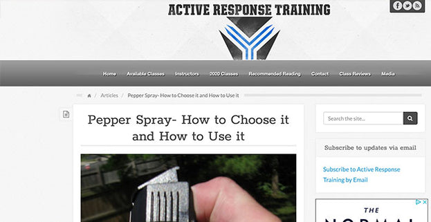 Active Response Training: Pepper Spray- How to Choose it and How to Use it
