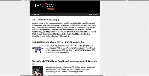 Tactical Wire: Sentinel e3