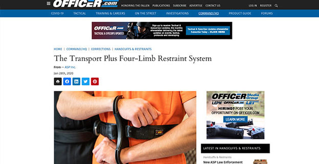 Officer.com: The Transport Plus Four-Limb Restraint System