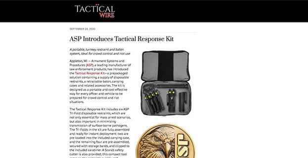 Tactical Wire: ASP Introduces Tactical Response Kit