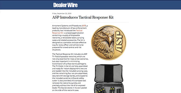 Dealer Wire: ASP Introduces Tactical Response Kit