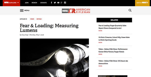 American Rifleman: Fear & Loading: Measuring Lumens