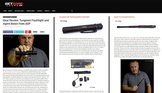 GETZONE.COM: Gear Review: Tungsten Flashlight and Agent Baton from ASP