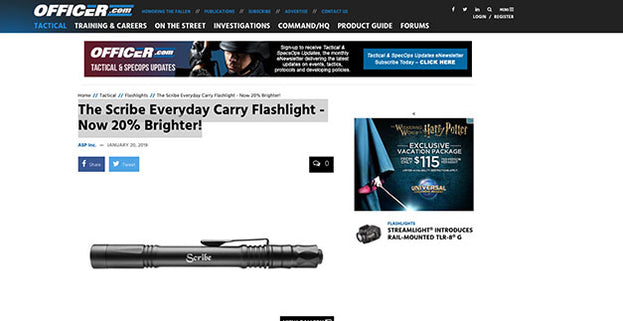Officer.com: The Scribe Everyday Carry Flashlight - Now 20% Brighter!