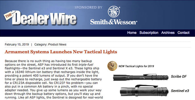 The Dealer Wire: Armament Systems Launches New Tactical Lights