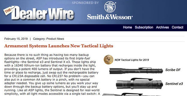 Dealer Wire: Armament Systems Launches New Tactical Lights