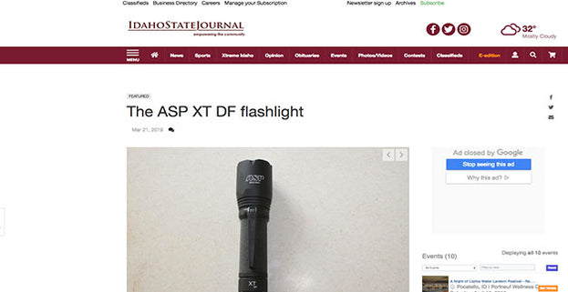 Idaho State Journal: The ASP XT DF Flashlight