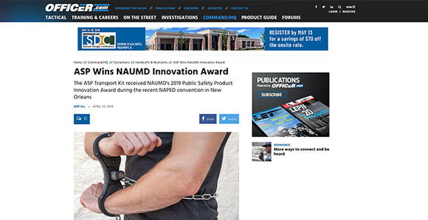 Officer.com: ASP Wins NAUMD Innovation Award