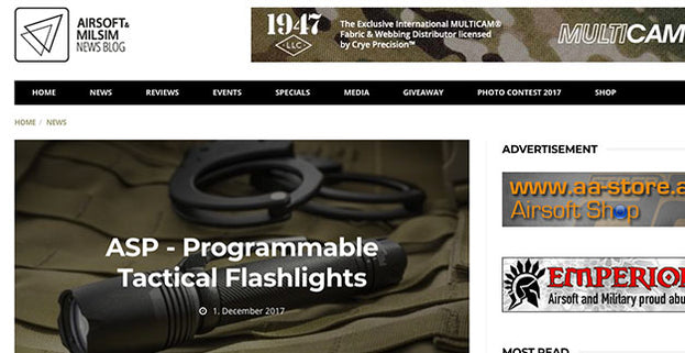 ASP Programmable Tactical Flashlights