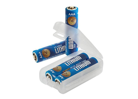 AAA lithium batteries 4 pak with link case