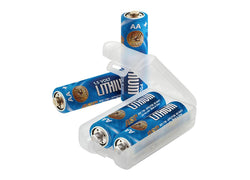 Lithium AA batteries 4 pak with link case